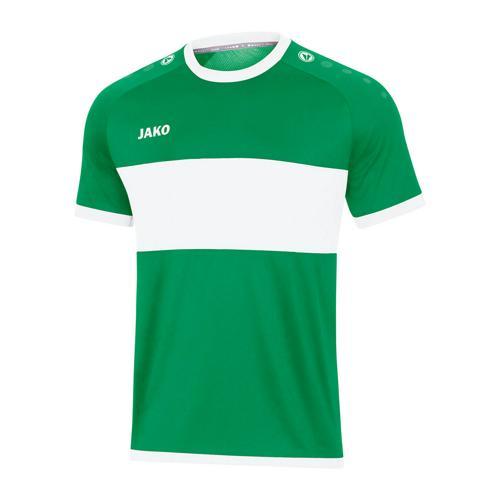 Maillot de foot manches courtes enfant - Jako - Boca Vert/Blanc
