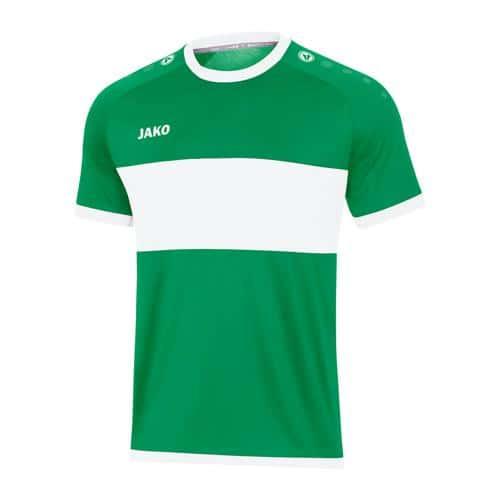 Maillot de foot manches courtes - Jako - Boca Vert/Blanc