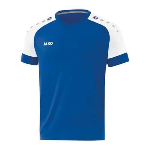 Maillot de foot manches courtes enfant - Jako - Champ 2.0 Bleu/Blanc