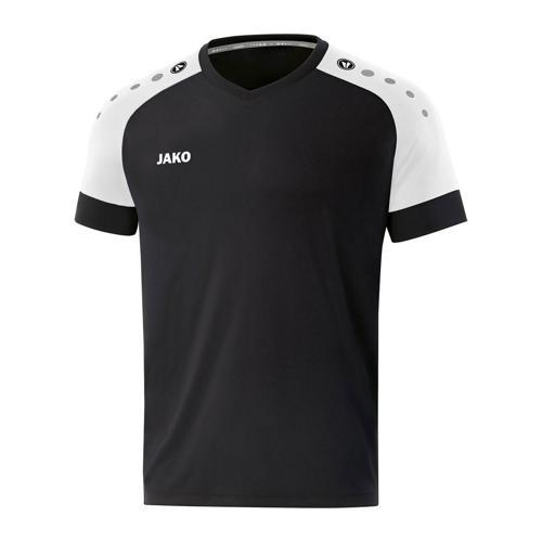 Maillot de foot manches courtes enfant - Jako - Champ 2.0 Noir/Blanc