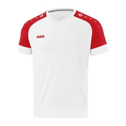 Maillot de foot manches courtes enfant - Jako - Champ 2.0 Blanc/Rouge