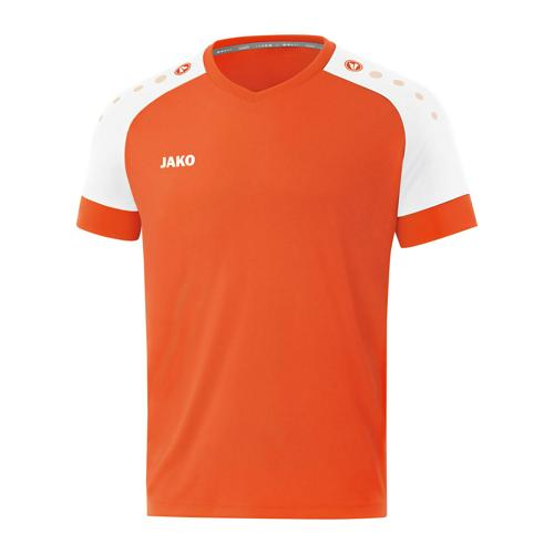 Maillot de foot manches courtes enfant - Jako - Champ 2.0 Orange/Blanc