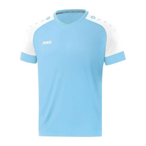 Maillot de foot manches courtes enfant - Jako - Champ 2.0 Bleu clair/Blanc