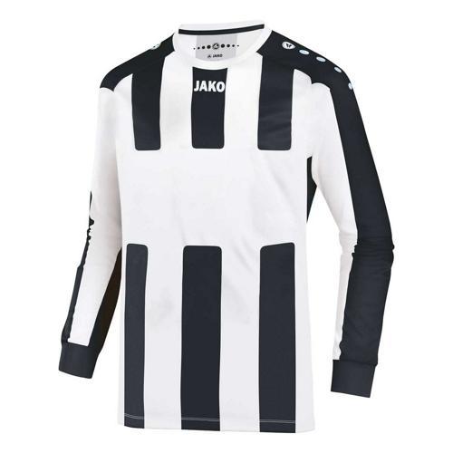 Maillot de foot manches longues enfant - Jako - Milan Blanc/Noir