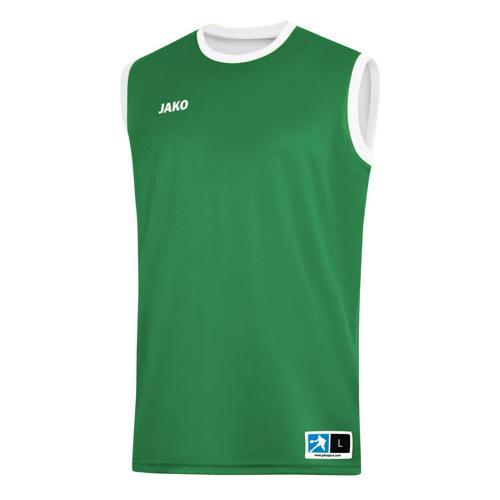Maillot de basket réversible Jako - Change 2.0 Vert/Blanc