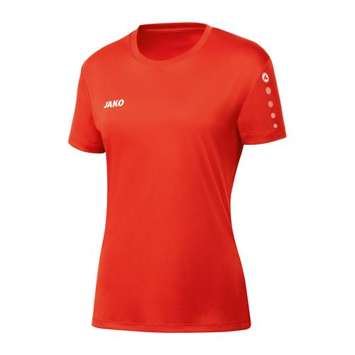 Maillot de foot manches courtes femme - Jako - Team Rouge fluo