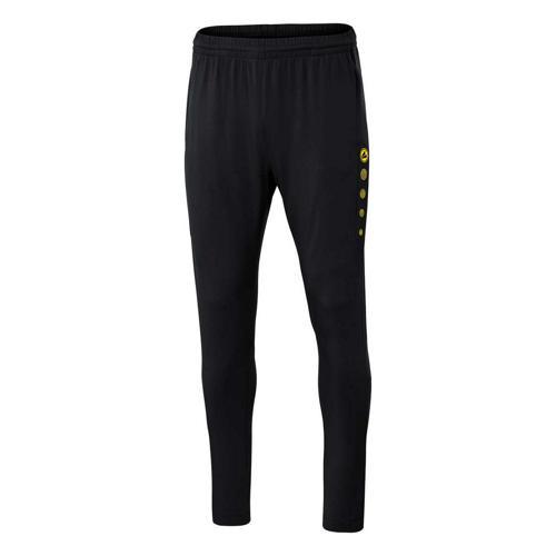 Pantalon d'entraînement de foot femme - Jako - Premium Noir/Jaune