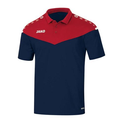 Polo manches courtes - Jako Champ 2.0 Bleu marine/Rouge