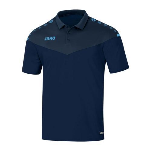 Polo manches courtes enfant Jako - Champ 2.0 Bleu marine/Bleu clair
