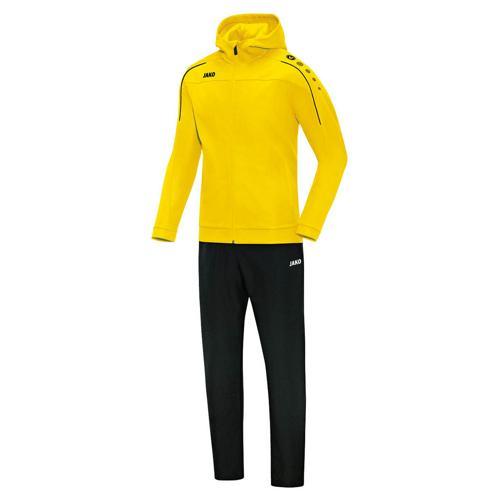 Ensemble survêtement de foot veste à capuchon et pantalon enfant - Jako - Classico Jaune