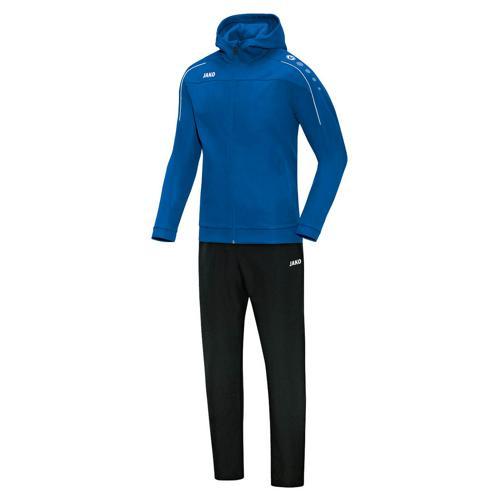 Ensemble survêtement de foot veste à capuchon et pantalon enfant - Jako - Classico Bleu