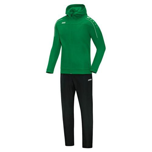 Ensemble survêtement de foot veste à capuchon et pantalon enfant - Jako - Classico Vert