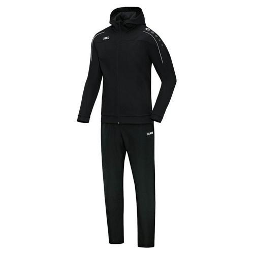 Ensemble survêtement de foot veste à capuchon et pantalon enfant - Jako - Classico Noir