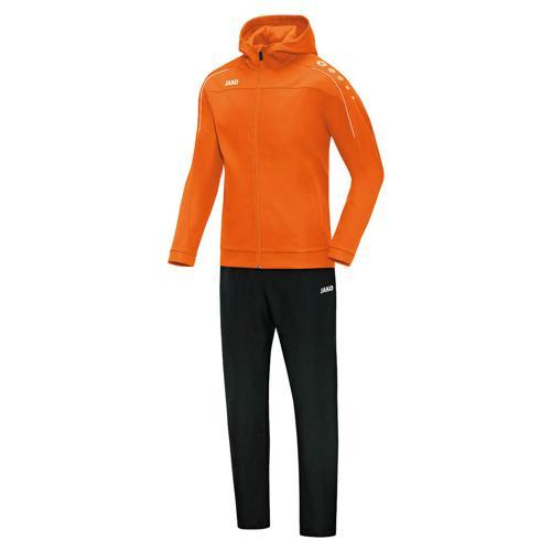 Ensemble survêtement de foot veste à capuchon et pantalon enfant - Jako - Classico Orange fluo