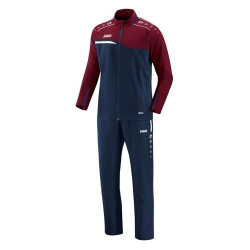 Ensemble survêtement de foot veste et pantalon enfant Jako - Competition 2.0 Bleu marine/Rouge bordeaux
