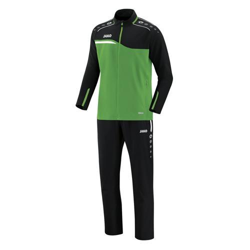 Ensemble survêtement de foot veste et pantalon enfant Jako - Competition 2.0 Vert/Noir