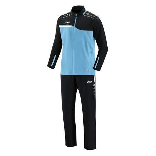Ensemble survêtement de foot veste et pantalon enfant Jako - Competition 2.0 Bleu clair/Noir