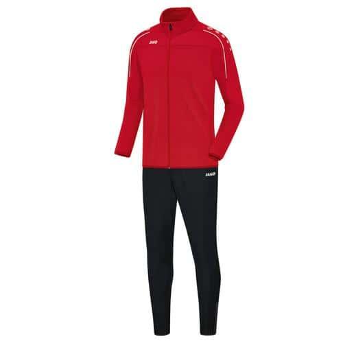 Ensemble survêtement de foot veste et pantalon enfant Jako - Classico Rouge