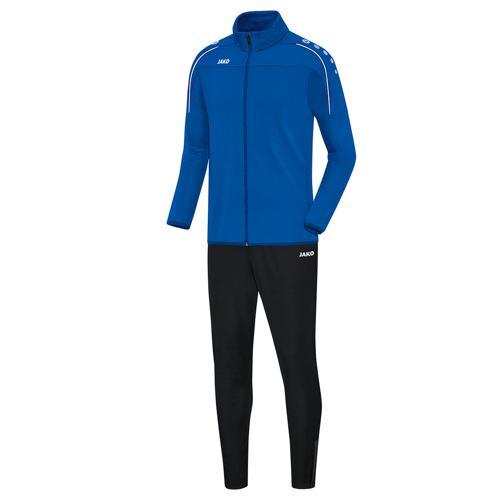 Ensemble survêtement de foot veste et pantalon enfant Jako - Classico Bleu