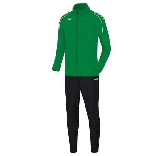 Ensemble survêtement de foot veste et pantalon enfant Jako - Classico Vert