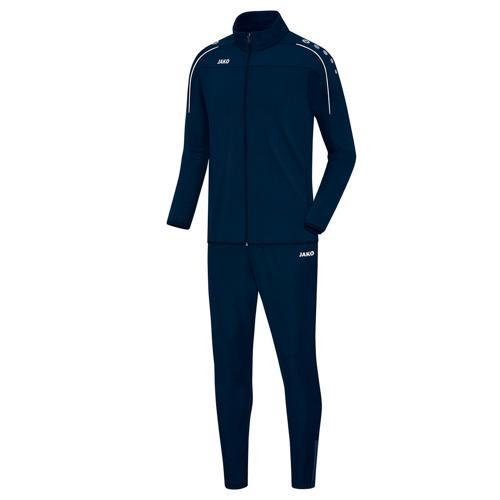 Ensemble survêtement de foot veste et pantalon enfant Jako - Classico Bleu marine