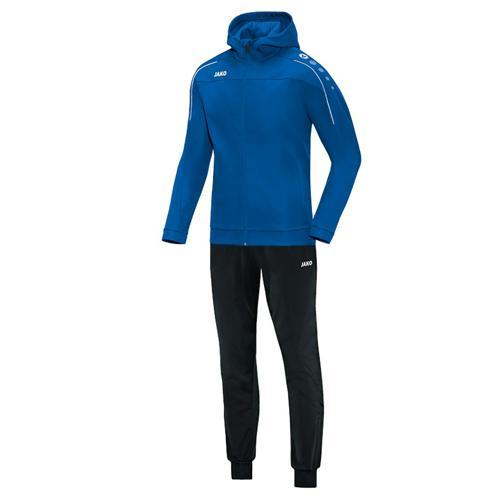 Ensemble survêtement de foot veste à capuchon et pantalon polyester enfant - Jako Classico Bleu