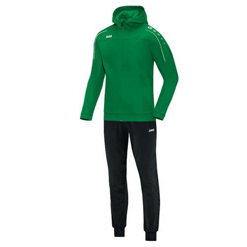 Ensemble survêtement de foot veste à capuchon et pantalon polyester enfant - Jako Classico Vert