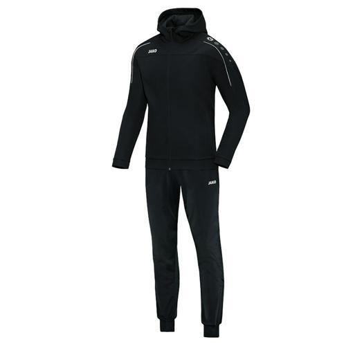 Ensemble survêtement de foot veste à capuchon et pantalon polyester enfant - Jako Classico Noir