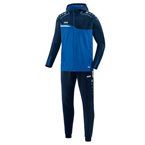 Ensemble survêtement de foot veste à capuchon et pantalon polyester enfant - Jako Competition 2.0 Bleu/Bleu marine