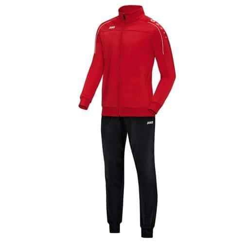 Ensemble survêtement de foot polyester veste et pantalon enfant - Jako - Classico Rouge