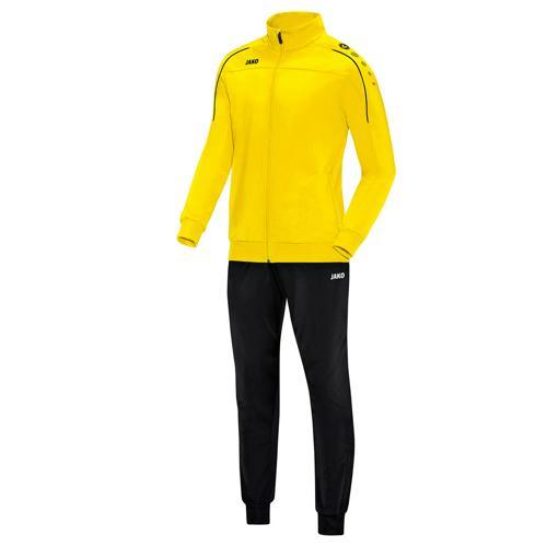 Ensemble survêtement de foot polyester veste et pantalon enfant - Jako - Classico Jaune