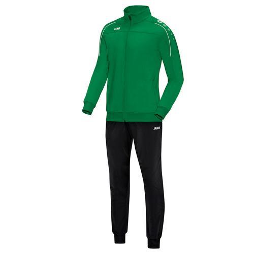 Ensemble survêtement de foot polyester veste et pantalon enfant - Jako - Classico Vert