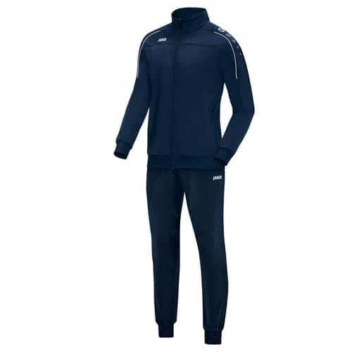 Ensemble survêtement de foot polyester veste et pantalon enfant - Jako - Classico Bleu marine