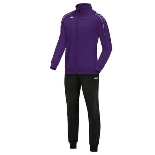 Ensemble survêtement de foot polyester veste et pantalon enfant - Jako - Classico Violet