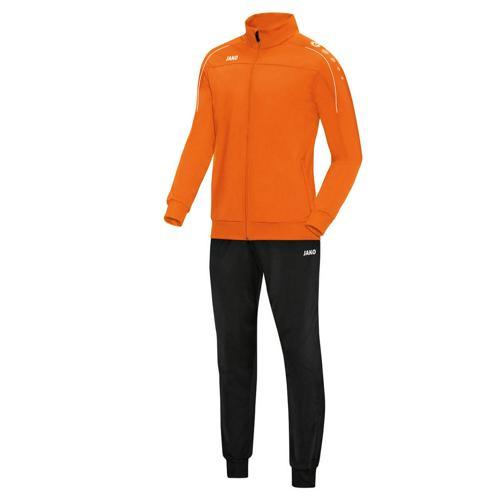 Ensemble survêtement de foot polyester veste et pantalon enfant - Jako - Classico Orange fluo