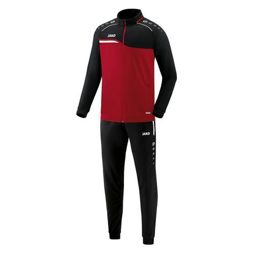 Ensemble survêtement de foot polyester veste et pantalon enfant - Jako - Competition 2.0 Rouge/Noir