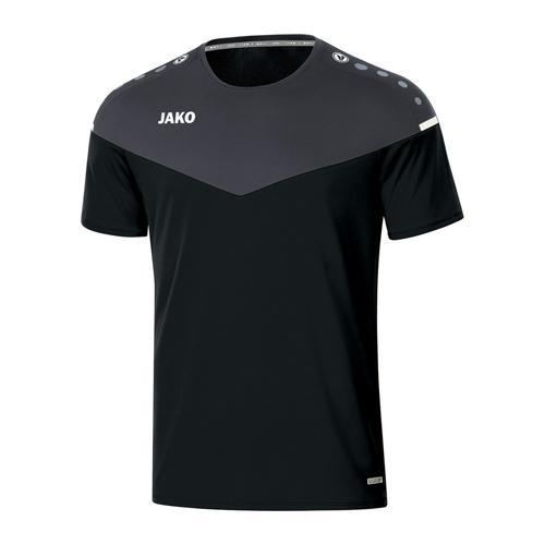 T-shirt de foot manches courtes femme - Jako - Champ 2.0 Noir/Gris