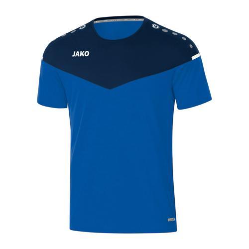 T-shirt de foot manches courtes femme - Jako - Champ 2.0 Bleu/Bleu marine