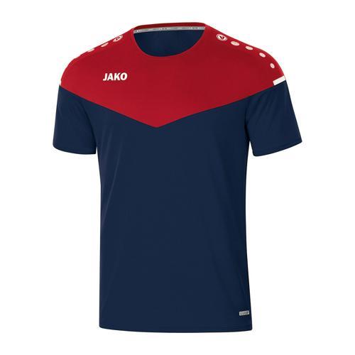 T-shirt de foot manches courtes femme - Jako - Champ 2.0 Bleu marine/Rouge