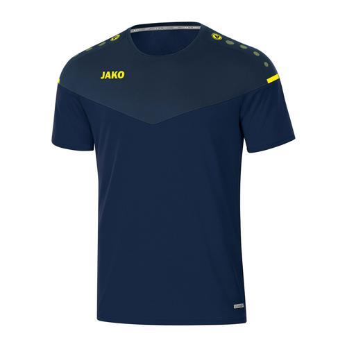T-shirt de foot manches courtes enfant - Jako - Champ 2.0 Bleu marine/Jaune