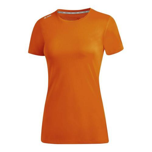 T-shirt running manches courtes femme - Jako - Run 2.0 Orange fluo