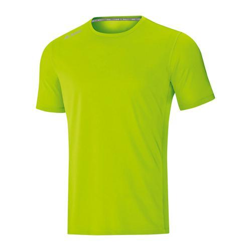 T-shirt running manches courtes enfant - Jako - Run 2.0 Vert fluo