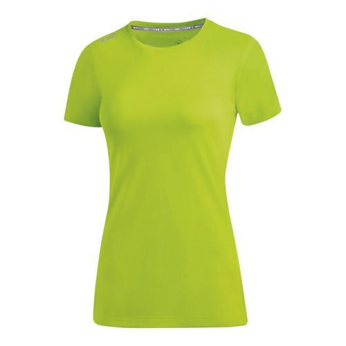 T-shirt running manches courtes femme - Jako - Run 2.0 Vert fluo