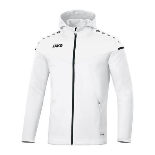 Veste de foot à capuchon femme - Jako - Champ 2.0 Blanc