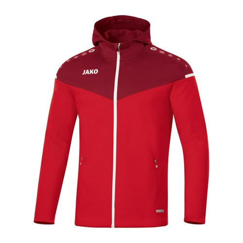 Veste de foot à capuchon femme - Jako - Champ 2.0 Rouge