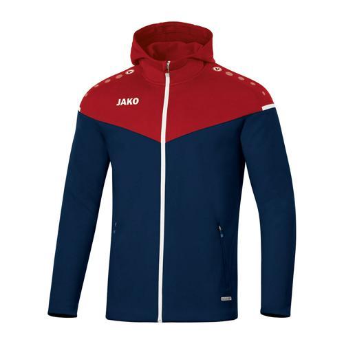 Veste de foot à capuchon femme - Jako - Champ 2.0 Bleu marine/Rouge