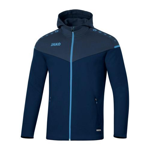 Veste de foot à capuchon enfant - Jako - Champ 2.0 Bleu marine/Bleu clair
