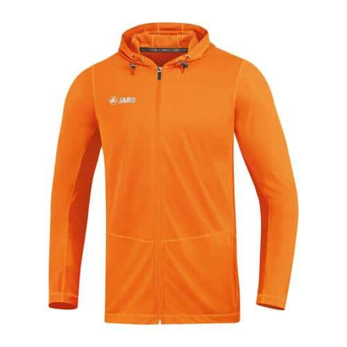 Veste running à capuchon enfant - Jako - Run 2.0 Orange fluo