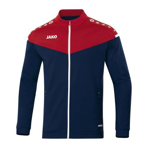 Veste de foot polyester enfant - Jako - Champ 2.0 Bleu marine/Rouge
