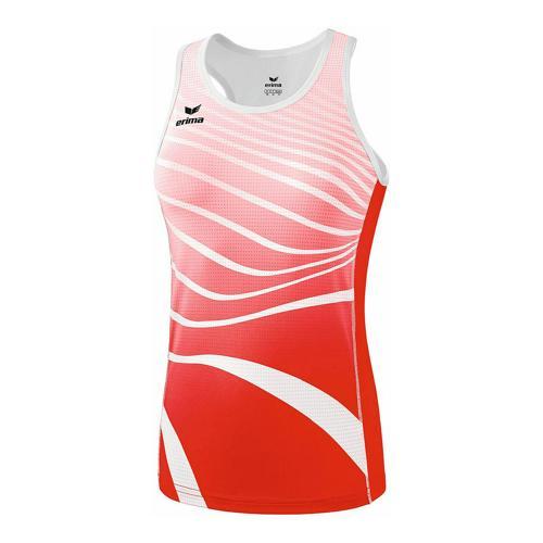 Débardeur athlétisme - Erima singlet athletic femme rouge/blanc